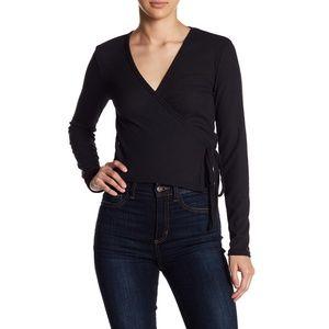 NWT Black Wrap Sweater